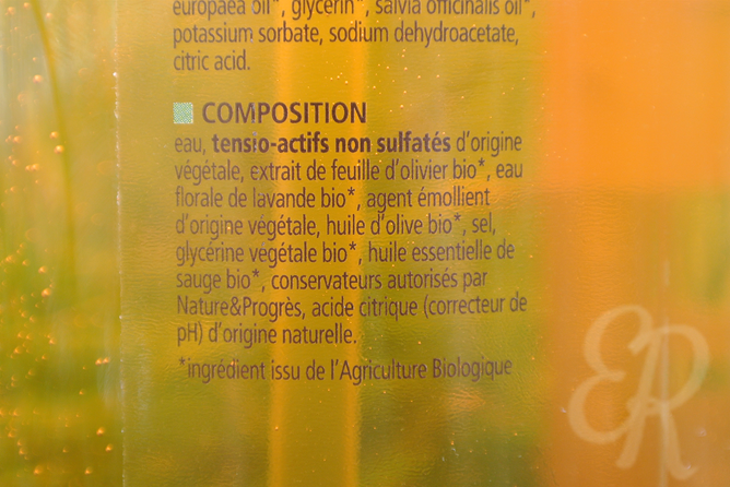 Ingrédients shampooing Cosmo Naturel