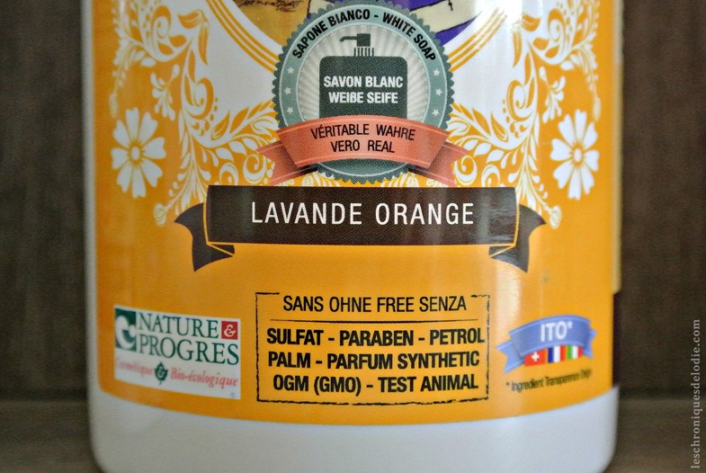 Savon douche  lavande orange